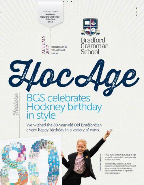 Hoc Age Senior and Sixth Form: Autumn 2017