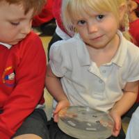 Moon rocks visit Eldwick Primary School